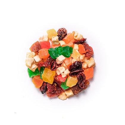 Fruta deshidratada picada