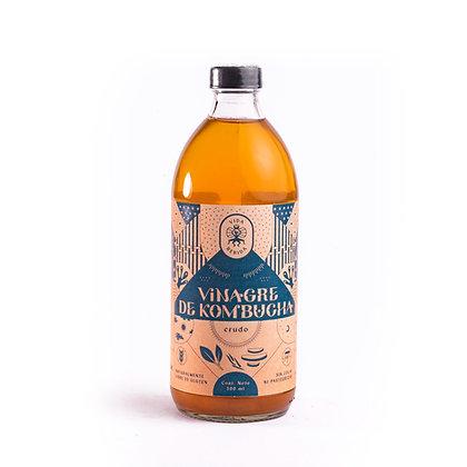 Botella de vinagre de kombucha natural