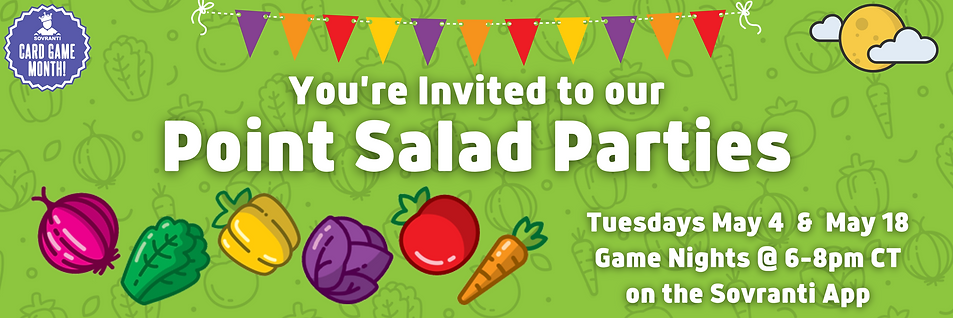 You're Invited to our Point Salad Partie