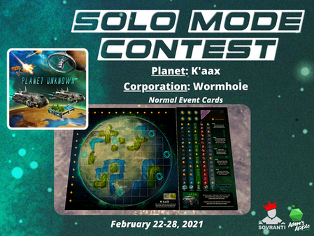 Week 3: Planet Unknown Solo Mode Contest