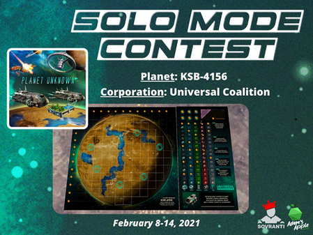Week 1: Planet Unknown Solo Mode Contest