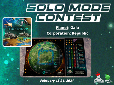 Week 2: Planet Unknown Solo Mode Contest