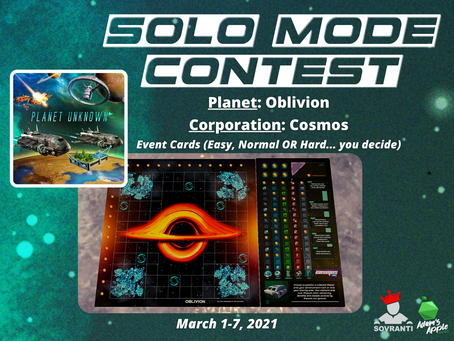 Week 4: Planet Unknown Solo Mode Contest