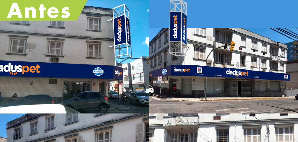 Projeto de fachada para loja Dadus Pet