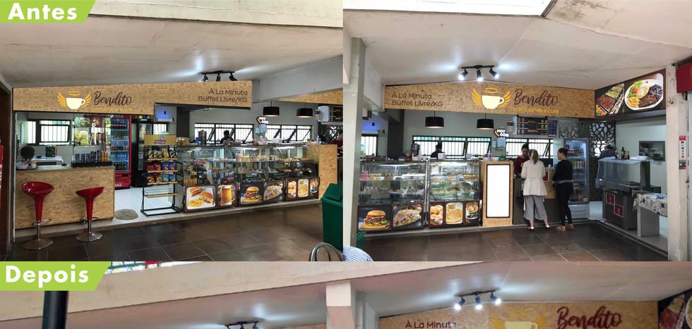 Projeto de fachada para cafeteria Bendito Café