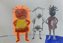 Three Grumpy Girls