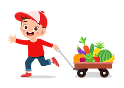 Boy with fres fruit wagon.png