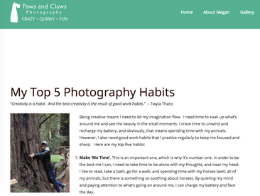 My Top 5 Photography Habits