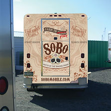 Back design of SoBo food truck