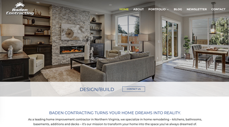 Baden Contracting – Full Web Re-write