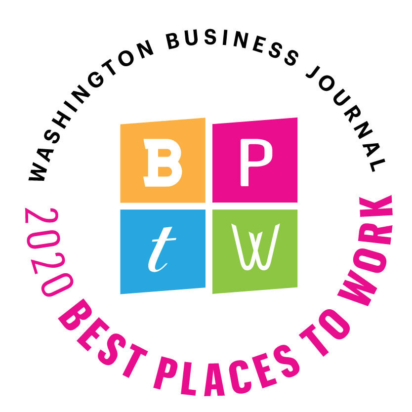 Washington Business Journal 2020 Best Places to Work Logo