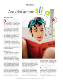 Avoid the Summer Slide