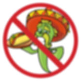 "Jalapeno with sombrero covered by ""no"" sign"