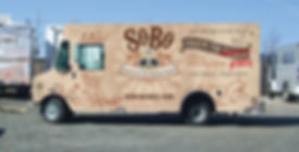 Left side design of SoBo food truck