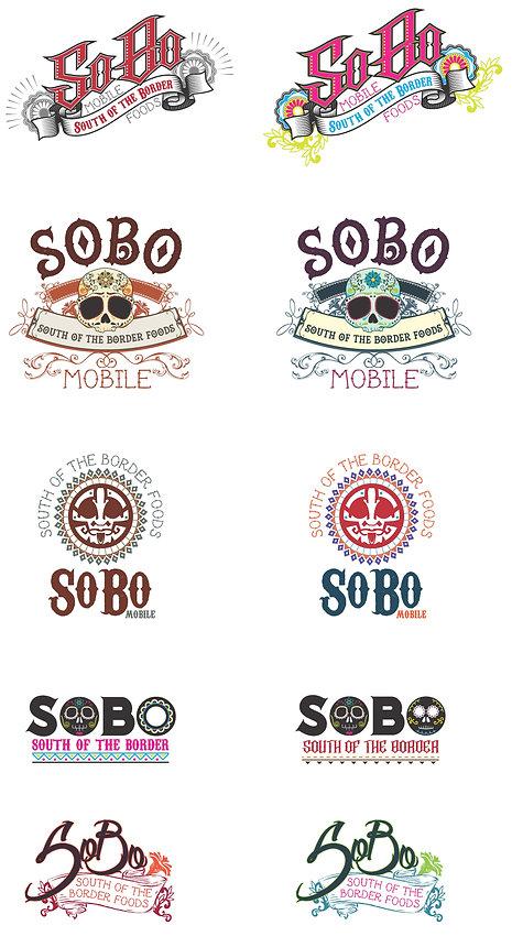 SoBo logo concepts