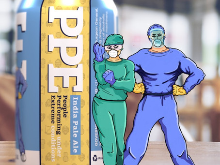 2 NoVA breweries unveil 'PPE' beer to support local health care workers