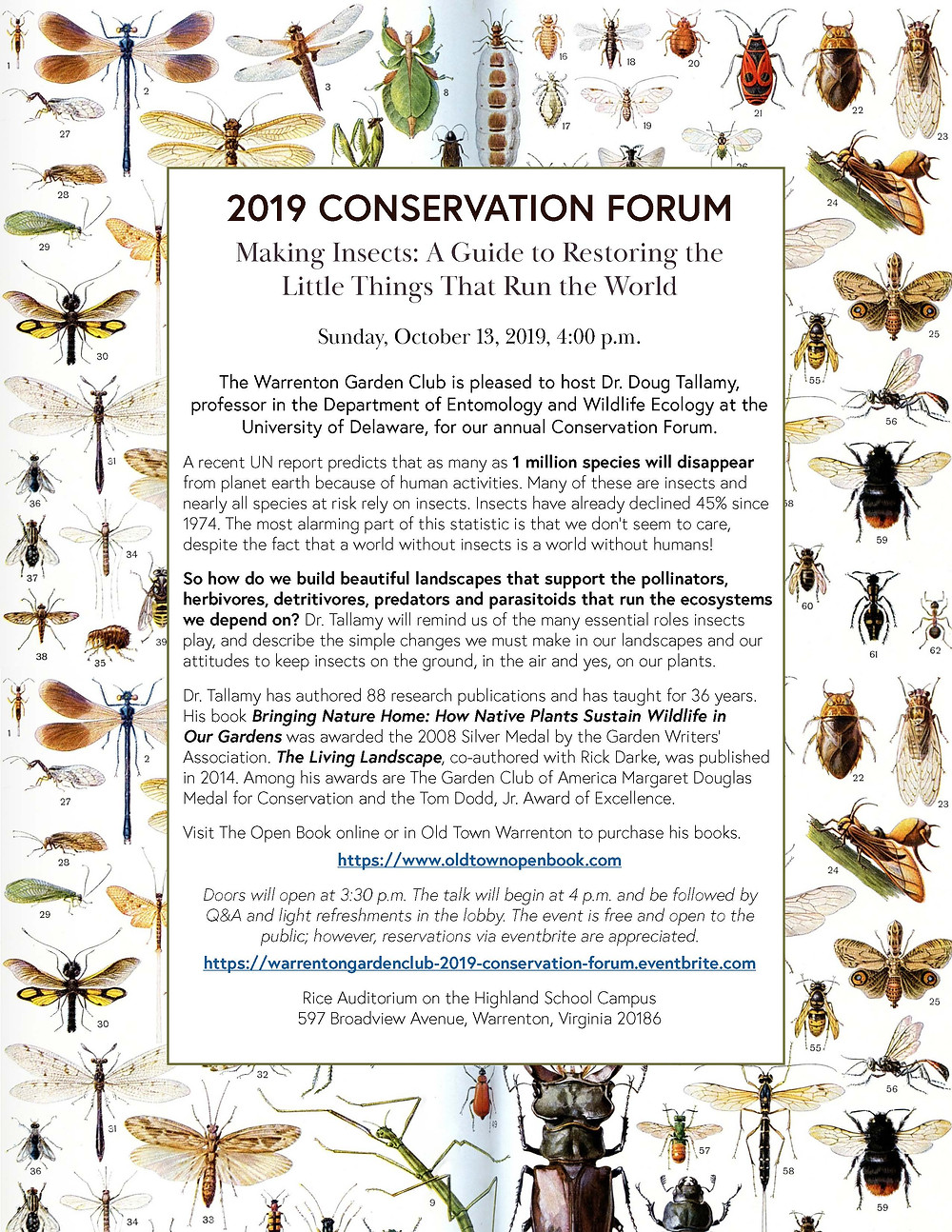 Flyer for Insect Importance in Ecosystems