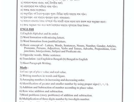 Syllebus  Of Admission Exam