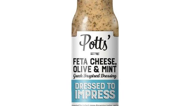 Potts Feta Cheese, Olive & Mint Dressing