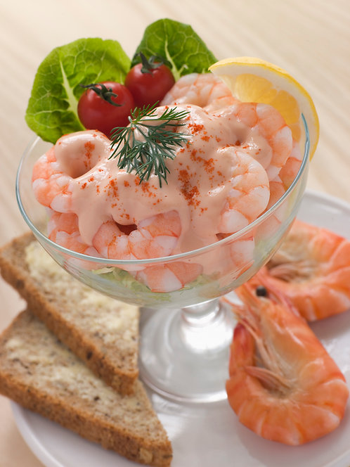 Cooked and Peeled Tail on Shrimps