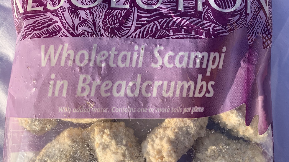 Wholetail Scampi in Breadcrumbs