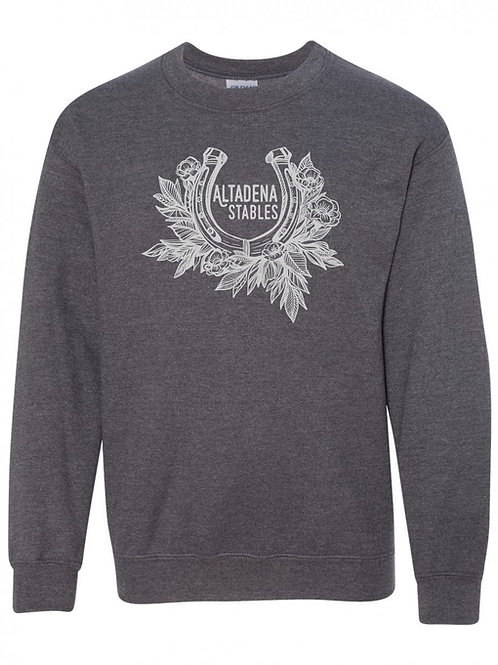 Youth Altadena Stables Horseshoe Crewneck