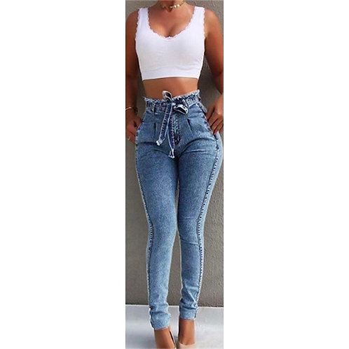 Blue Bow Jeans