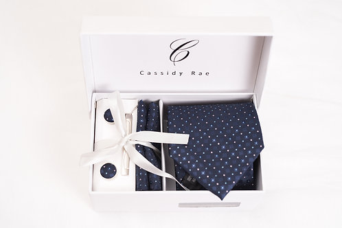 Navy Blue Tie Set