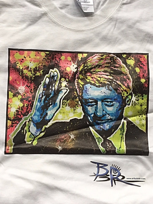 T-shirt with Bill Clinton