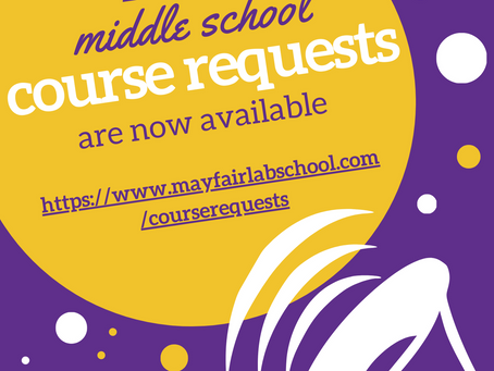 Middle School Course Requests, Summer Reading, and Supply Lists