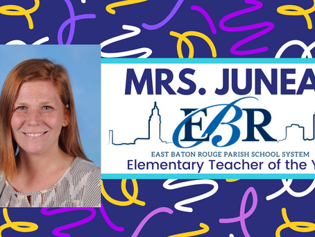 Mrs. Juneau - District Elementary Teacher of the Year