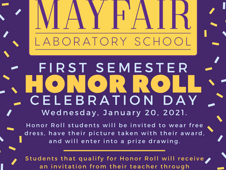 First Semester Honor Roll Celebration Day