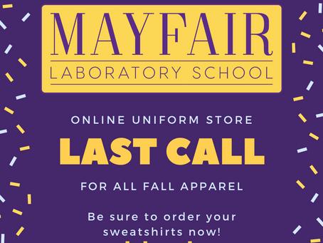 Last Call: Uniform Orders
