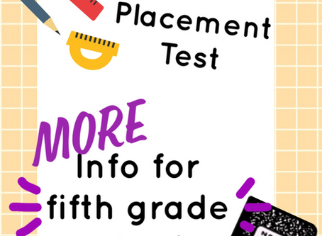 Math Placement Test - Current Fifth Graders