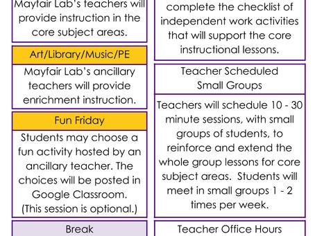 Elementary (K-5) Schedule Update
