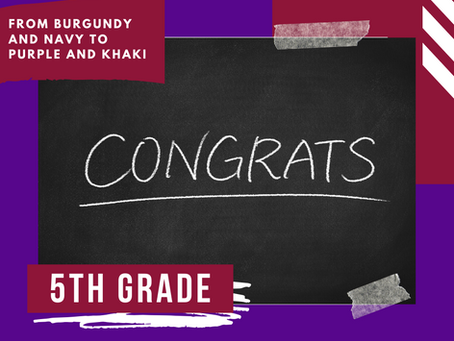 Congratulations 5th Grade
