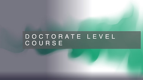 Doctorate Level Course