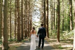 Bride and Groom at Shepherd's Hollow
