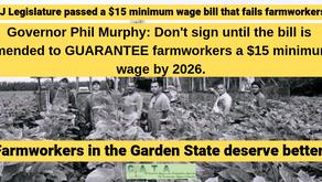 Tweet NJ Gov. Murphy TODAY. NJ Lawmakers Are Leaving Farmworkers Behind!