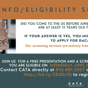 DACA Info/Eligibility Session on April 28th at 7 pm!