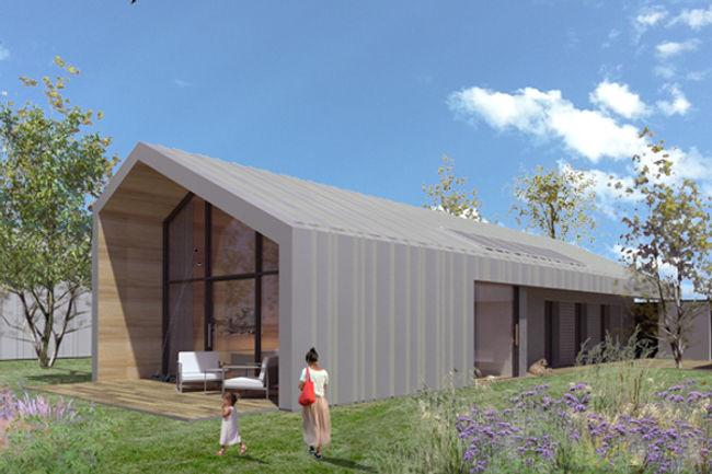 Casa in legno moderna