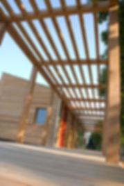 Bicigril in legno, rivestimento facciata listelli in larice