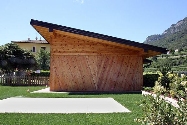Depandance in legno, rivestiment facciata in legno di larice