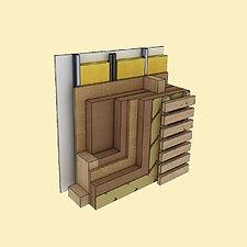 parete in legno a telaio