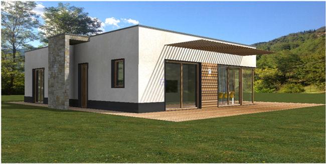 Casa in legno moderna chiavi in mano