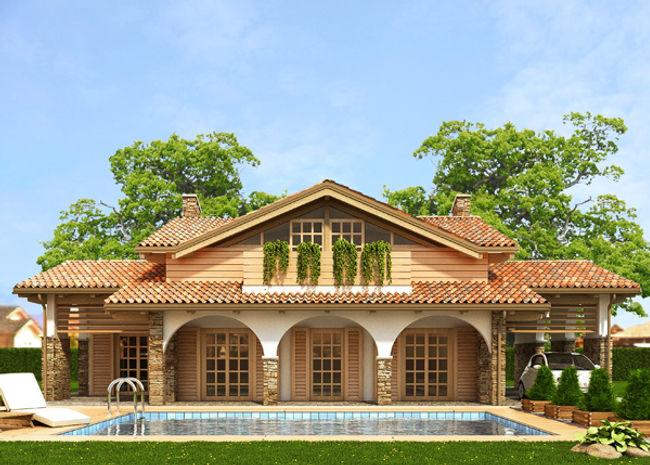 Casa in legno tradizionale