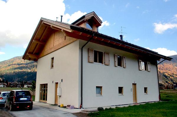 Casa in legno Carisolo certificata casa clima A, rivestimento facciata legno di larice
