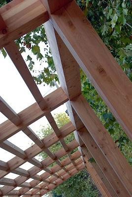 pergolato in legno di larice