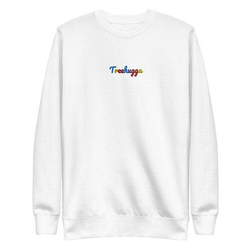 Men's Embroidered Treehugga Original Colour-way Sweatshirt   White