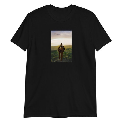 Men's Handpan T-shirt Front Design | Black